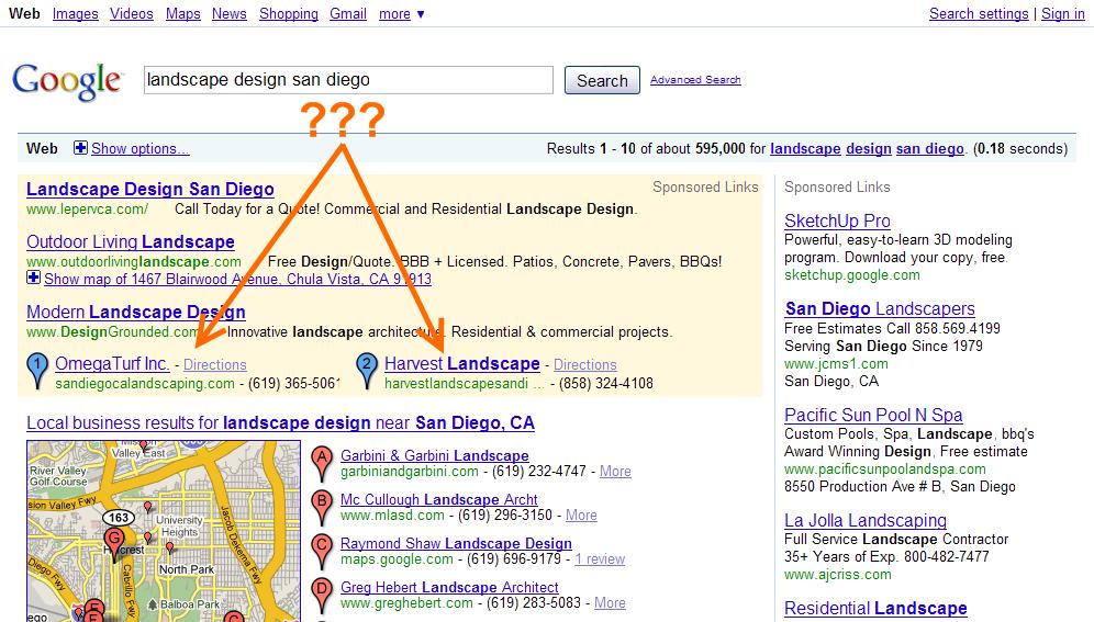 Google: landscape design san diego