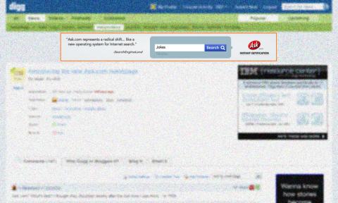 Digg: Ask.com Ad