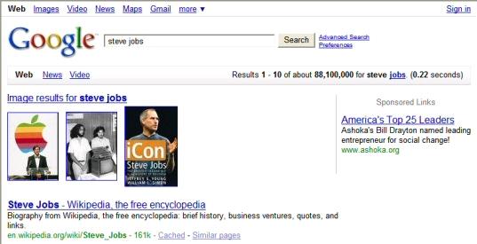 Google: steve jobs